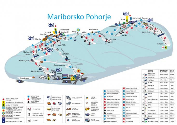 Maribor sítérkép